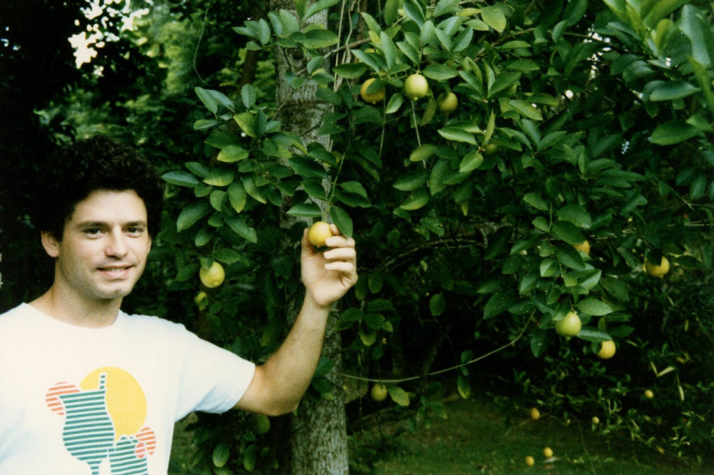 Kenny Burts and a key lime tree, 1989 , Miami-Coral Gables, FL.